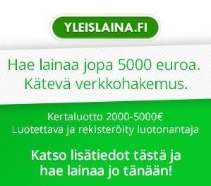 Yleislaina – hae lainaa jopa 5000 euroa – kokemuksia Yleislainasta