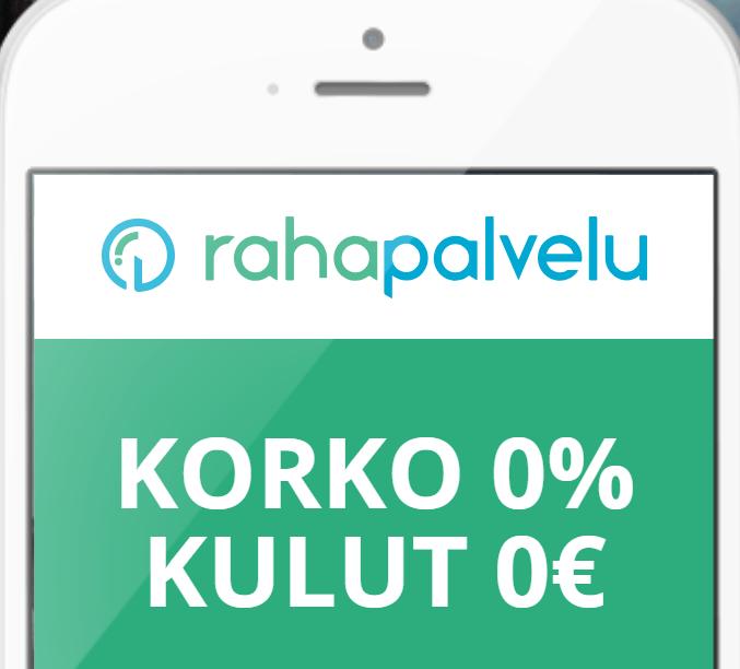 Rahapalvelu joustoluotto 0€ kulut - 0% korko